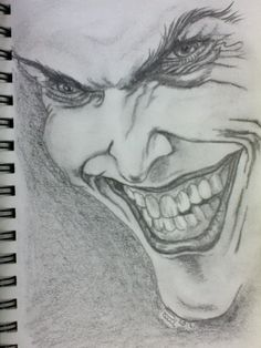 The Joker, sketch of a sketch on A5 paper