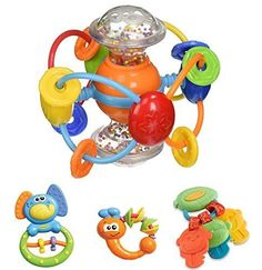 47 OFF  Infantino Baby Activity Toy Set Nontoxic BPA  Phalate Free For children 3 months Activity Ball Elephant Firefly Money Key *** You can find out more details at the link of the image.Note:It is affiliate link to Amazon. #night