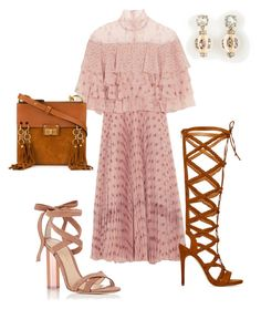 """Pink Spilling Over From the Weekend!!!"" by la-harrell-styling-co on Polyvore featuring Valentino, Gianvito Rossi, ShoeDazzle, Chloé and Ann Taylor"