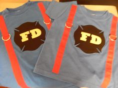 Halloween Birthday Fireman costume made to order by threeKdesigns, $16.00