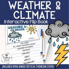 This engaging Weather Whole Brain Teaching, Teaching Science, Science Lessons, Teaching Resources, Critical Thinking Activities, Critical Thinking Skills, Vocabulary Activities, Fun Activities, Thinking Stems