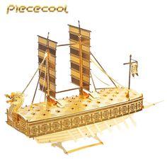 Piececool+3D+Metal+Puzzle+Korea+Geobukseon+Boat+P020G+DIY+3D+Laser+Cut+Models+Toys+For+Audit
