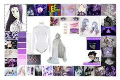 """""""Teen Titans OC: Raven's twin sister Faven/Faith"""" by silentdoll ❤ liked on Polyvore featuring Wolford, Le Silla, Anastasia Beverly Hills, NYX and Berry"""