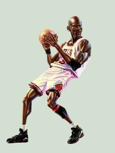 Michael Jordan by A-BB on deviantART ~ digital art