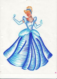 That Magical Disney Place princess Cinderella drawing