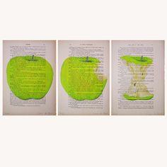 Leven van een appel-gemengde techniek van Coco De Paris op DaWanda.com