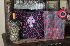 Double wine bags by kimberlybishop1 on Etsy, $20.00