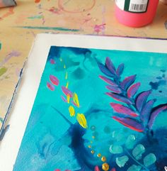 Insta Art, Plastic Cutting Board, Artist Workspace, Doodles, Coding, Diy Crafts, Watercolor, Drawings, Pink Blue