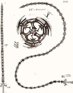 Weapon Concept Art: Whipsword and Giant Chakram by on DeviantArt Anime Weapons, Fantasy Weapons, Whip Sword, Hidden Weapons, Armas Ninja, Cool Swords, Sword Design, Weapon Concept Art, Knives And Swords