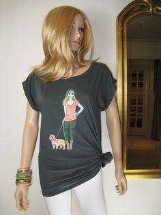 BASSET FAUVE de BRETAGNE Womens Tshirt Rolled by AliceBrands