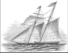 An original Baltimore Clipper. These were used as privateers during the War of 1812.
