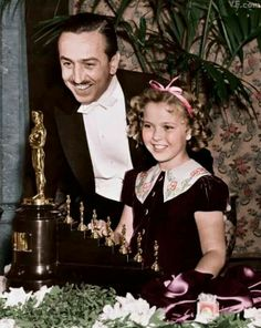 Walt Disney with Shirley Temple