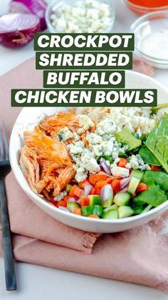 Slow Cooker Recipes, Low Carb Recipes, Crockpot Recipes, Healthy Recipes, Healthy Meals, Shredded Buffalo Chicken, Buffalo Chicken Recipes, Easy Slimming World Recipes, Easy Dinner Recipes