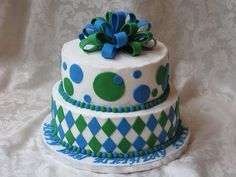 """Round Blue and Green Donate Life Cake- celebrate liver Anniversary """" Gift"""" cake"""
