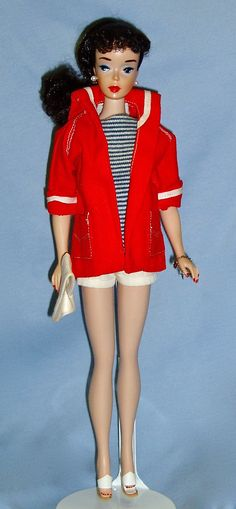 Brunette Ponytail Barbie in Resort Set...my Barbie came in this outfit!