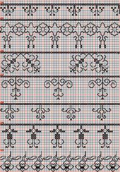Borduren en borduurwerk:zwart borduren: randen 24-30