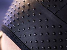 A close-up of bumps on the new speedskating uniform.