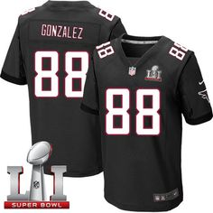 Nike Falcons #88 Tony Gonzalez Black Alternate Super Bowl LI 51 Men's Stitched NFL Elite Jersey
