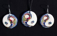Psychedelic Ying-Yang fimo necklace and/or by AwesomeStuffJewelry