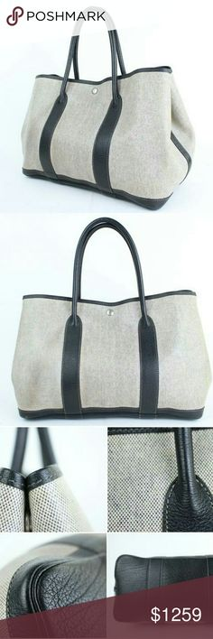 """Hermès  Bicolor Garden Party Tote Shoulder Bag This item will ship out immediately.  Previously owned, unless otherwise stated.  Signs of Wear: Minor wear, no major flaws.  This item does not come with any extra accessories.  Please review photos for more details.  Color appearance may vary depending on your monitor settings.  Measurements:14""""L x 9.75""""H x 6.6""""W  Gently Used  SKU : 2ht914 Hermes Bags Shoulder Bags"""