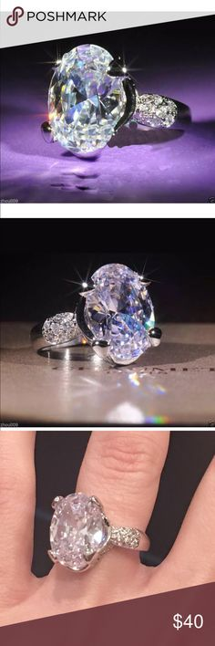 Huge Bling Ring very beautiful.. looks like real diamond in person!.. brand new.. perfect gift Jewelry Rings