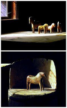Antique Dala horses