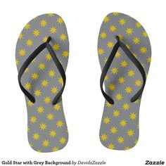 Gold Star with Grey Background Flip Flop Sandals Available on many products! Hit the 'available on' tab near the product description to see them all! Thanks for looking!     @zazzle #art #star #pattern #shop #chic #modern #style #fun #neat #cool #buy #sale #shopping #men #women #sweet #awesome #look #accent #fashion #clothes #apparel #accessories #accessory #shoes #sandals #flip #flops #high #tops #low #slip-on #navy #blue #gold #black #purple #orange #grey #gray