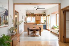 Photo 2 of 15 in A Cramped Bungalow Is Reborn as an Eco-Minded Abode For Two Gardeners - Dwell House Design, Renovation Design, Interior, Home, Concrete Floors, House Interior, Home Renovation, Sustainable Home, Interior Design