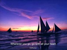 sailboats at sunset Buy A Boat, Spiritual Warrior, Negative Thoughts, Random Thoughts, All Things Purple, Your Heart, Motivation Inspiration, Sailing Ships, Beautiful Places