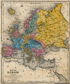 Map of Europe 1847