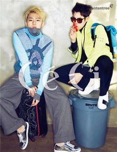 Zico and P.O. look dangerously handsome in 'CeCi' | http://www.allkpop.com/article/2015/02/zico-and-po-look-dangerously-handsome-in-ceci