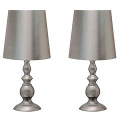 Twin Pack Table Lamps - Charcoal