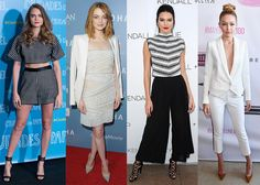 Summer 2015 Trends: All White, Neutrals, Black, and Gray Outfits