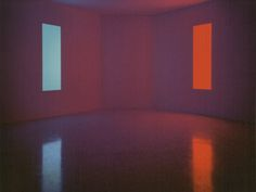 """James Turrell, """"Stuck Red,"""" 1970; and """"Stuck Blue,"""" 1970"""