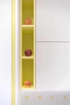 ristrutturazione-cucina-su-misura-FLV - thecaterpilar   studio di architettura Decor, Bookcase, Home, Shelves, Home Decor