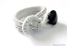 Crochet Pattern Bracelet Button Crochet por BeautyCrochetPattern