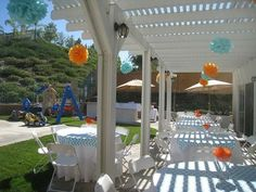 Beauteous Backyard Canopy Ideas Layout Good Looking Backyard Patio. Because I'd rather have fun regardless of what people think.  This is a good decor for an at home party.