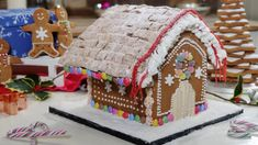 Phil Vickery's gingerbread masterclass   This Morning Ikea Gingerbread House, Gingerbread House Patterns, Gingerbread Man, Gingerbread Recipes, Shredded Wheat Cereal, Phil Vickery, Baked Banana, Golden Syrup, Roof Panels