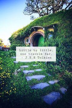 Little by little, one travels far.