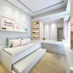 Teenage Girl Bedroom Ideas For Small Rooms. Need some teen bedroom ideas for gir. - Teenage Girl Bedroom Ideas For Small Rooms. Need some teen bedroom ideas for girls? Check out diffe - Small Room Design, Bedroom Design, Bedroom Diy, Small Room Bedroom, Teenage Bedroom, Modern Bedroom, Trendy Bedroom, Bedroom Tv Stand, Dream Rooms