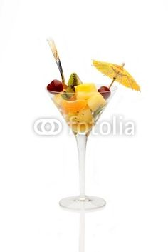Cup With Fruit Salad Isolated © eZeePics Studio #29244267  From $1.50