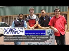 Workplace Experience: Vereeniging ft. GERTENBACH & VENNOTE and 4 CTU students Workplace, Believe, Career, Students, Bring It On, Success, Videos, Carrera