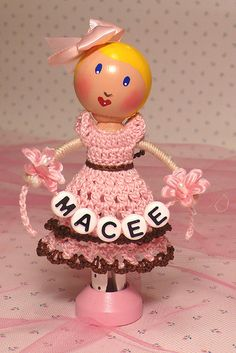Clothespin doll - Macee | Gift for my daughter's teacher, wh… | Flickr - Photo Sharing!