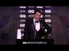 GQ MOTY speeches: David Gandy accepts his Hugo Boss Most Stylish of the Year Award - YouTube