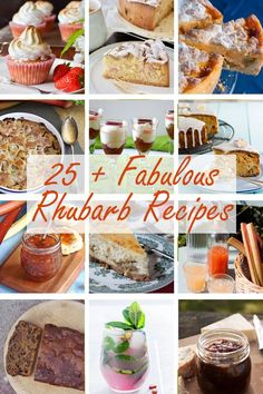 There's more to rhubarb than Rhubarb Crumble. I have gathered together more than 25 fabulous rhubarb recipes and there is only one crumble amongst them! Best Rhubarb Recipes, Fruit Recipes, Gourmet Recipes, Sweet Recipes, Rhubarb Chutney, Rhubarb Crumble, Rhubarb And Custard, Cordial Recipe, Compote Recipe