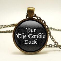 Put the Candle Back Handmade Pendant Necklace  by RosiesPendants, $14.25