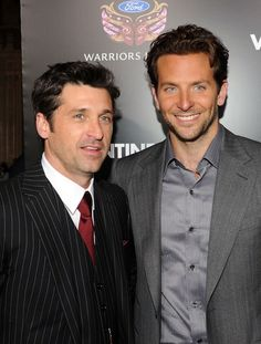 "Actors Patrick Dempsey (L) and Bradley Cooper arrive at the premiere of New Line Cinema's ""Valentine's Day"" held at Grauman's Chinese Theatre on February 8, 2010 in Los Angeles, California. Description from zimbio.com. I searched for this on bing.com/images"