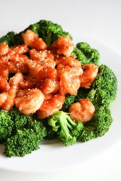 General Tso's Shrimp 'n Broccoli  - Delish.com