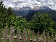 Rosengarten, Dolomiten, von St. Helena aus gesehen.