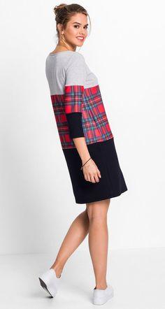 Cooles Kleid mit mittigem Karomuster und geradem Schnitt. Rot Kariert,  Kleiderschrank, Schnittchen, 85745b75a4